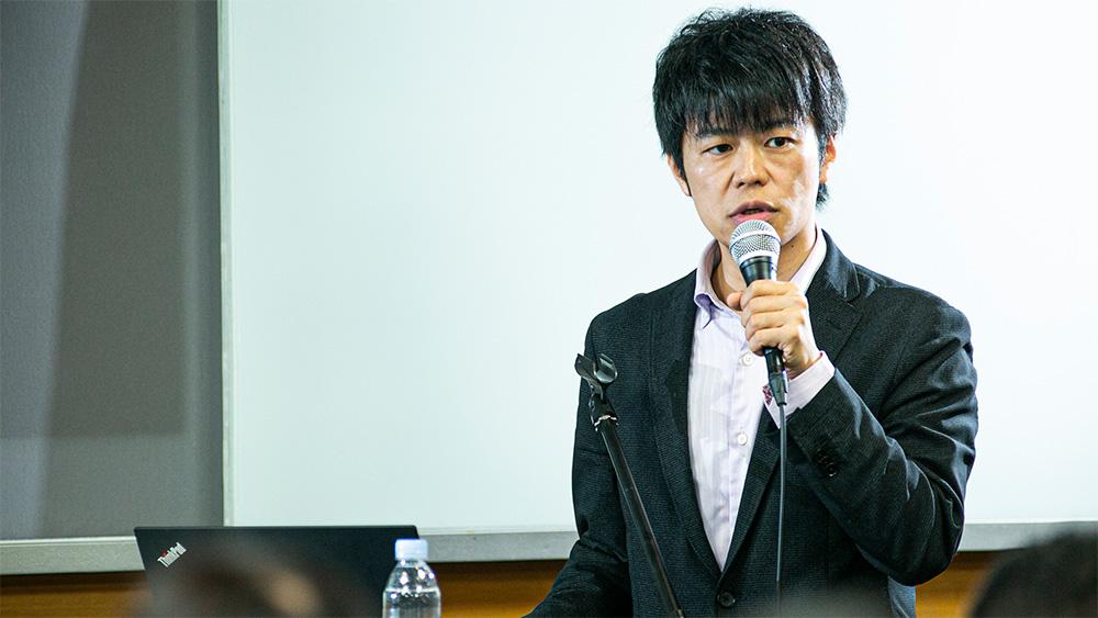 井上智洋氏が話している様子
